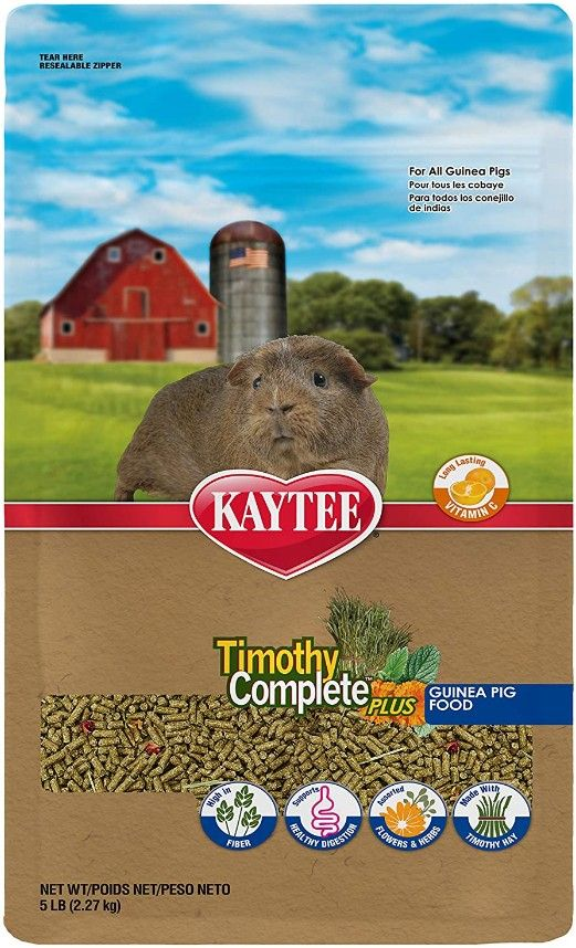 Kaytee Timothy Complete Guinea Pig Food Plus Flowers & Herbs