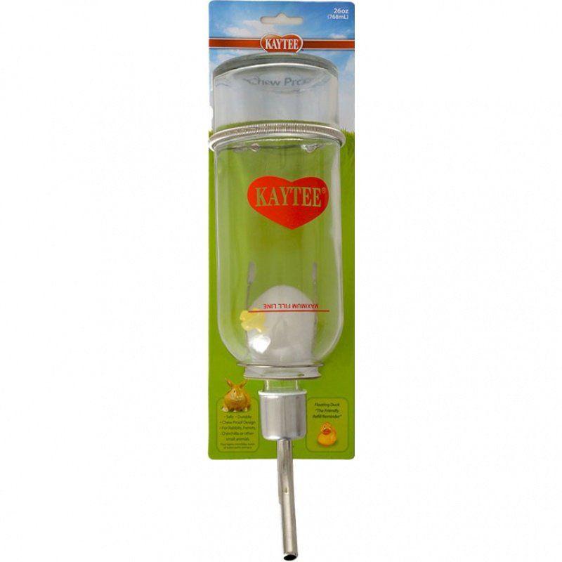Kaytee Chew-Proof Glass Water Bottle
