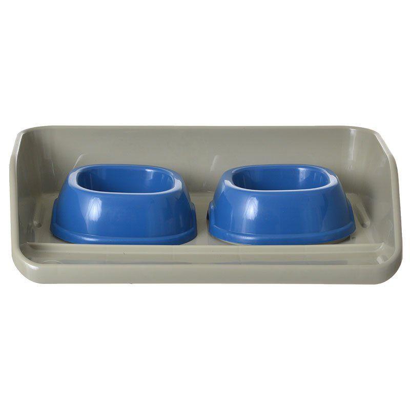 Kiosk Feeding Tray with Bowls
