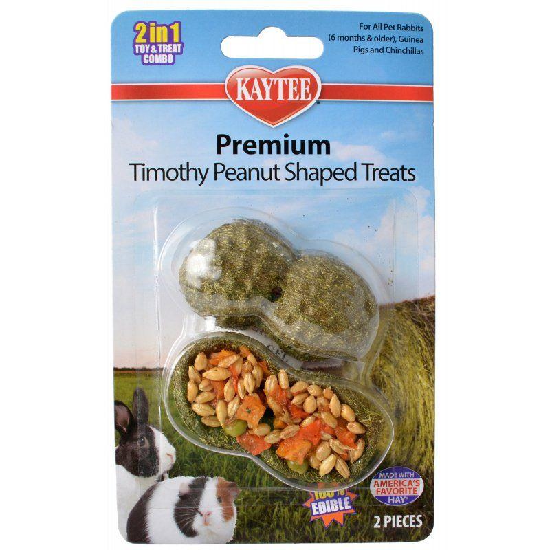 Kaytee Premium Timothy Peanut Shaped Treats