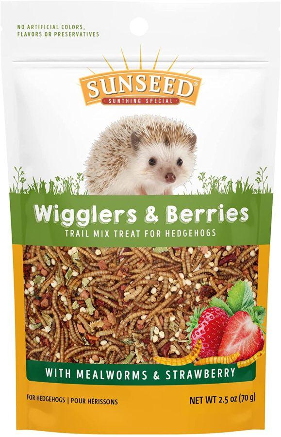 Sunseed Vita Prima Wigglers & Berries Trail Mix Hedgehog Treat - 3 oz