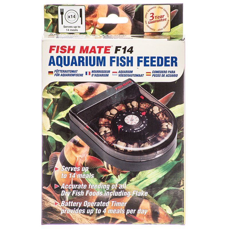fish mate fish mate f14 aquarium fish feeder feeders auto