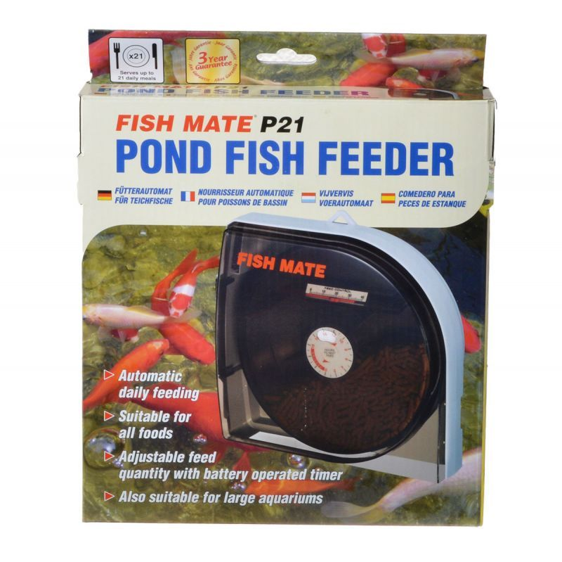 Fish mate fish mate pond fish feeder p21 fish feeders for Fish feeder for pond