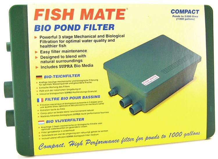 Fish mate fish mate compact bio pond filter filters for Pond bio filter media