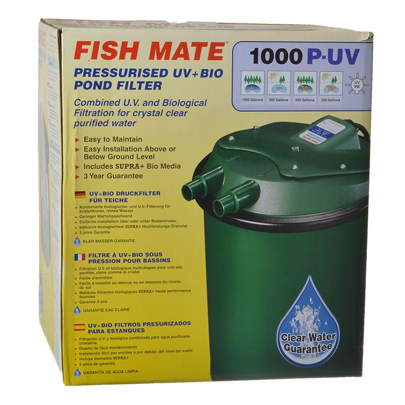 Fish mate fish mate pressurized uv bio pond filter uv for In line pond filter