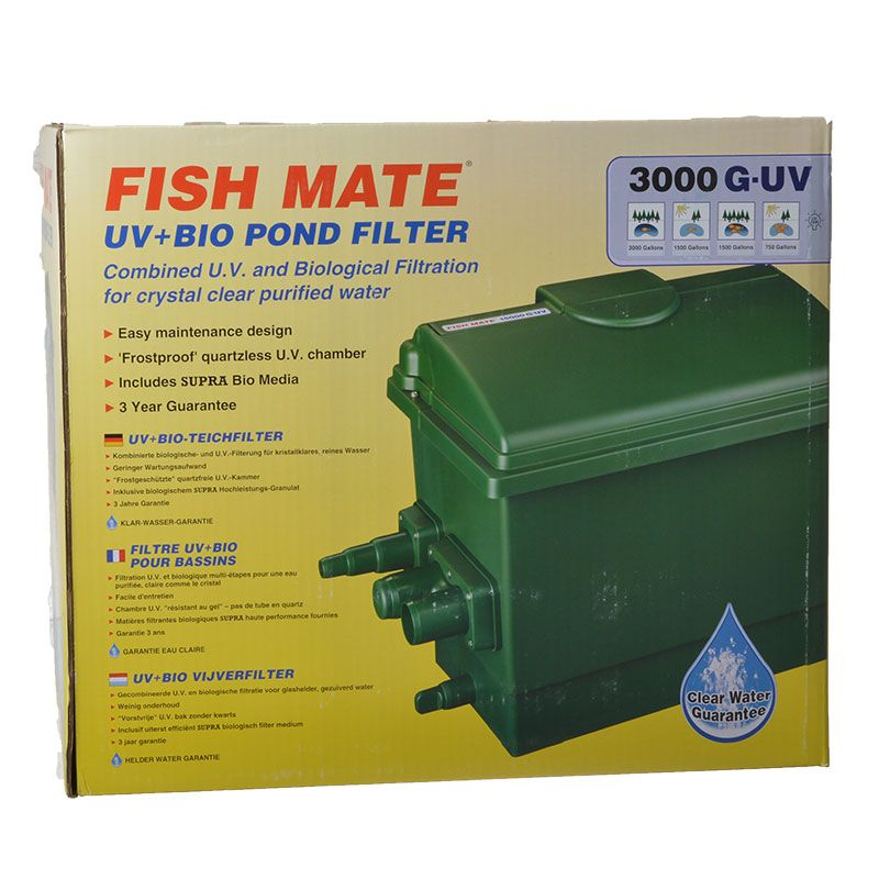Fish mate fish mate gravity uv bio pond filter uv for Pond filter