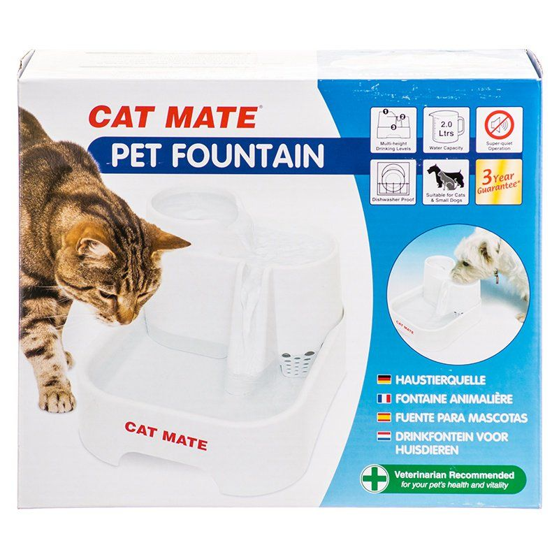Cat Mate Cat Mate Pet Fountain White Dishes Amp Bowls