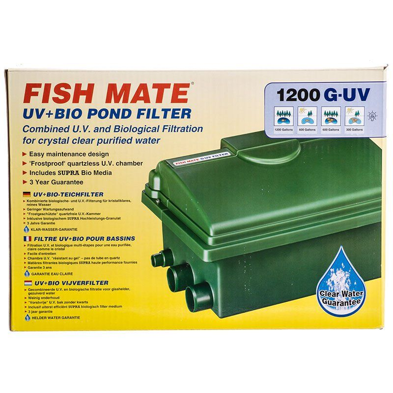 Fish mate fish mate gravity uv bio pond filter uv for Fish pond filter accessories