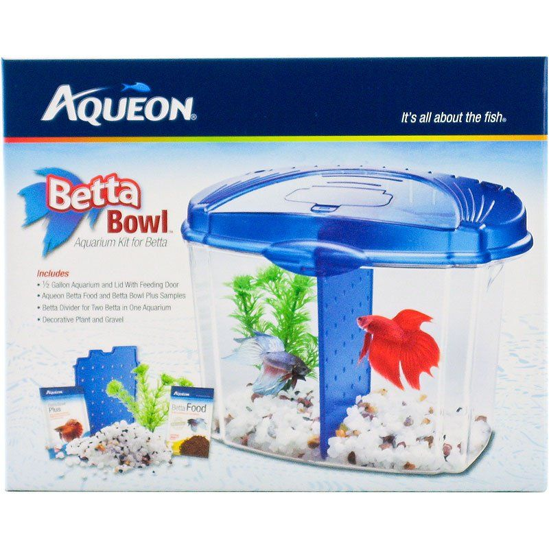 aqueon aqueon betta bowl starter kit blue bowls plastic