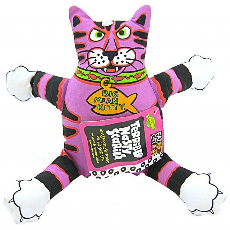 Fat Toy Dogs : Fat cat terrible nasty scaries dog toy assorted
