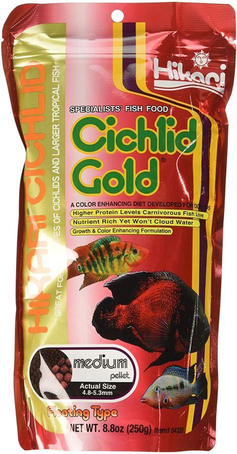 Hikari hikari cichlid gold color enhancing fish food for Hikari koi food