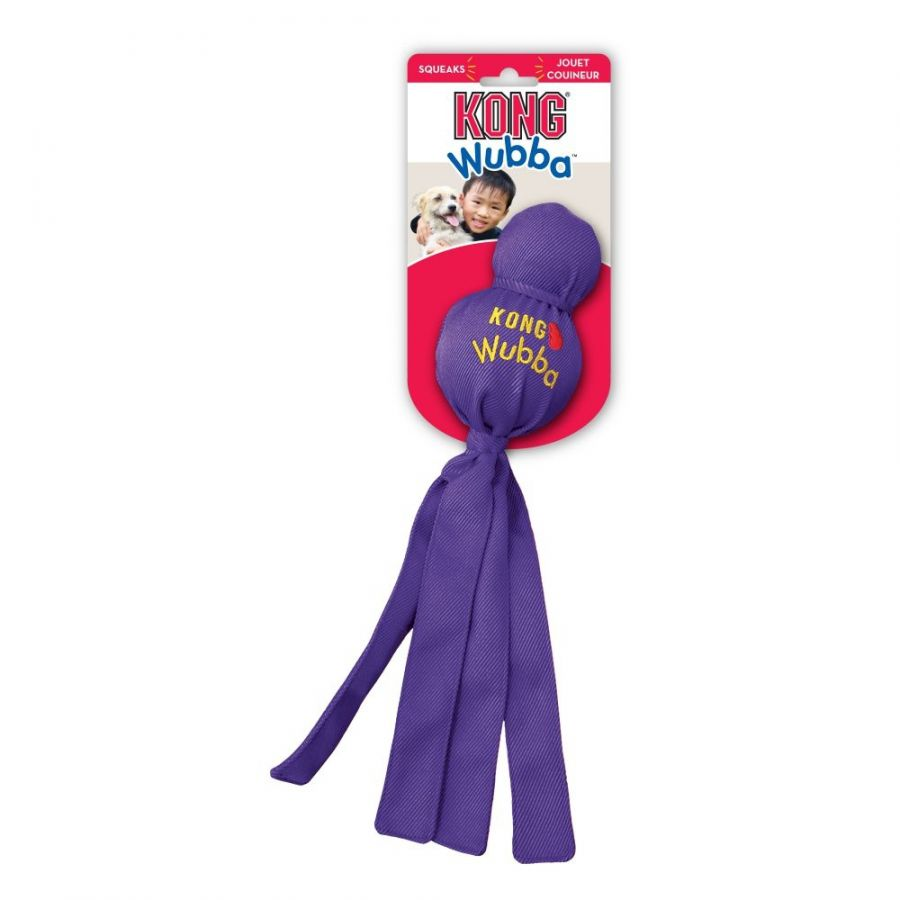 Kong Kong Wubba Squeak Dog Toy Toys Rubber & Cressite