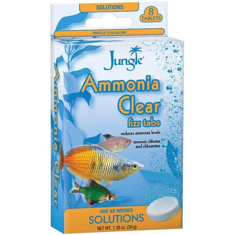 Jungle labs jungle labs ammonia clear fizz tabs ammonia for Ammonia in fish tank