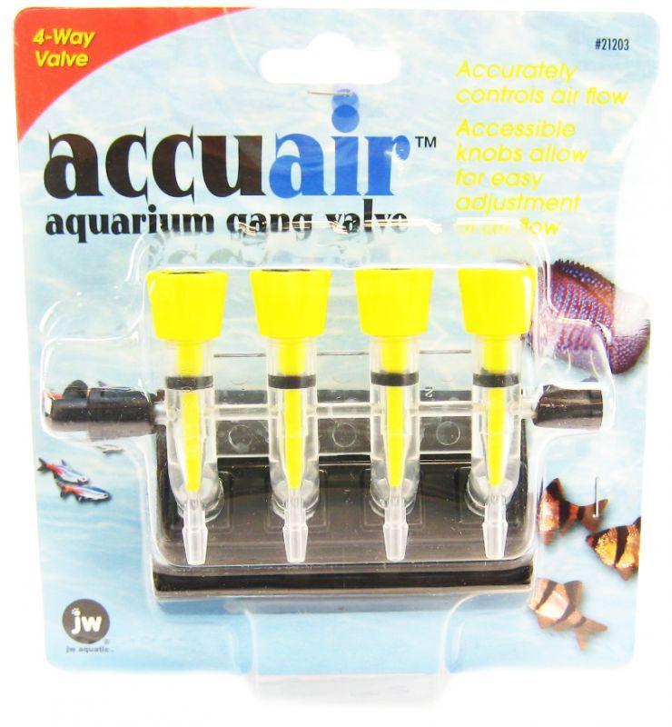 Jw Pet Jw Fusion Accuair 4 Way Aquarium Gang Valve Valves Gang