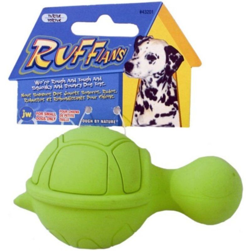 Jw Pet Jw Pet Ruffians Rubber Dog Toy Turtle Toys Rubber