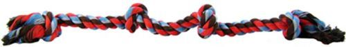 Mammoth Flossy Chews Colored 4 Knot Tug Rope Toys Rope