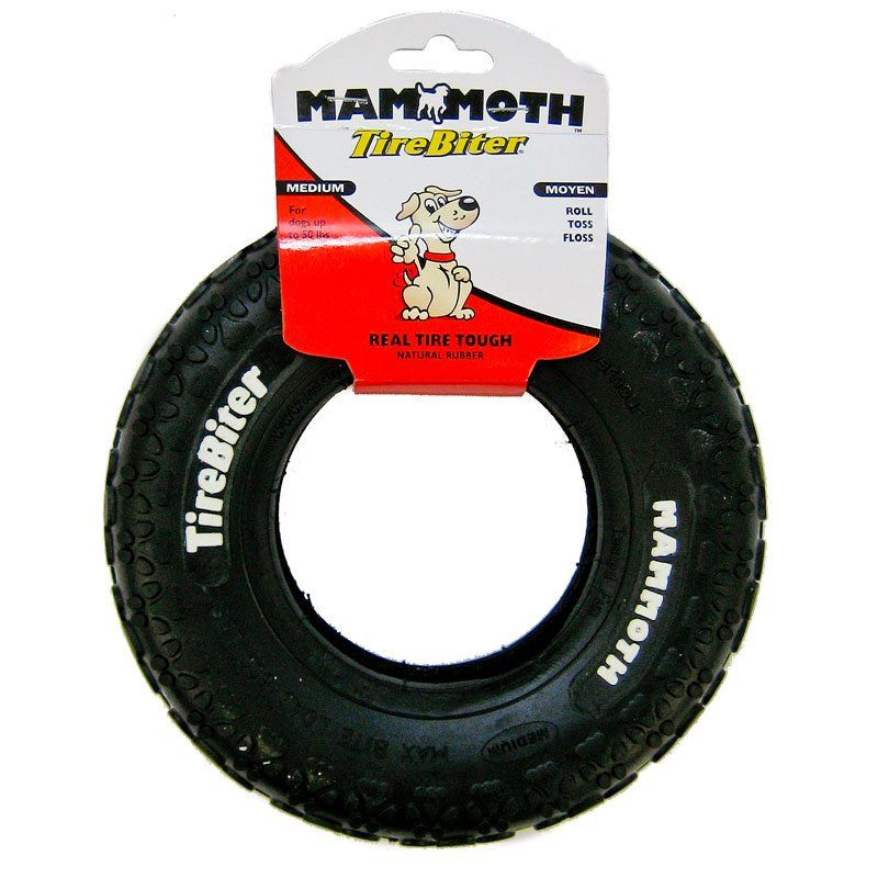Mammoth Mammoth Tire Biter Dog Chew Toy Toys Rubber Amp Cressite