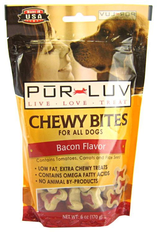 Pur Luv Pur Luv Chewy Bites Bacon Flavor Dog Treats Made