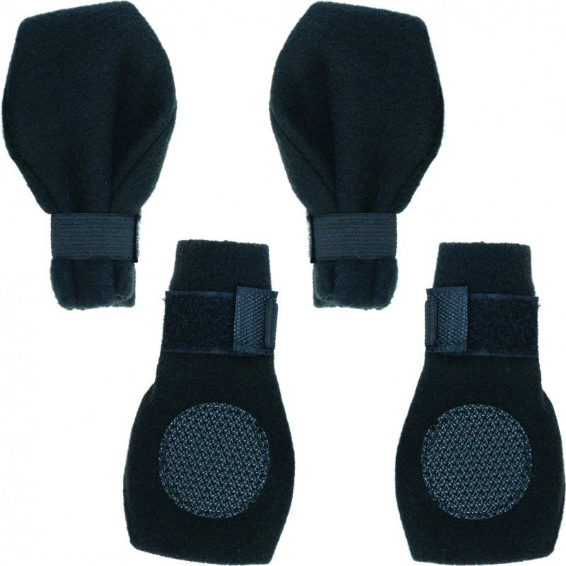 Ethical Pet Fashion Lookin Good Fleece Boots, Black Arctic, 4 count Fashion pet arctic fleece boots