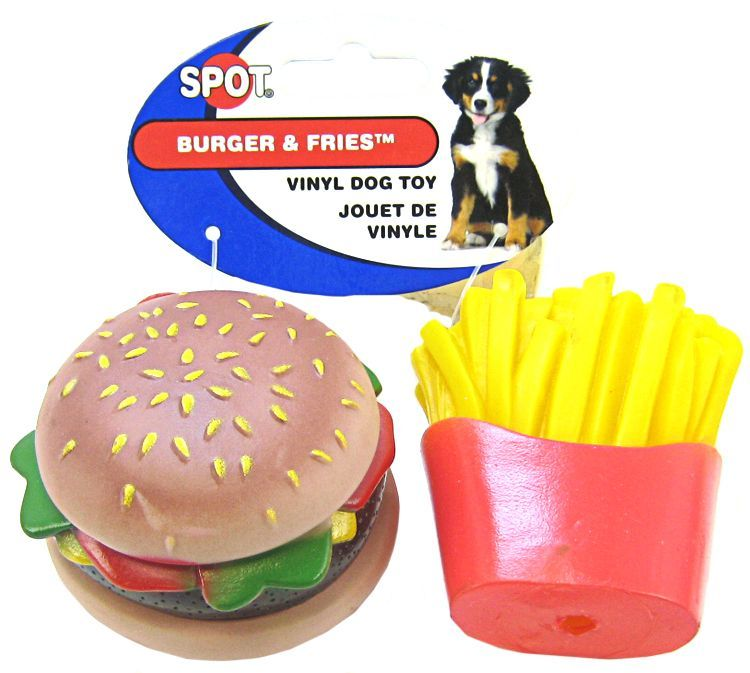 Spot Spot Vinyl Hamburger Amp Fries Dog Toy Toys Vinyl