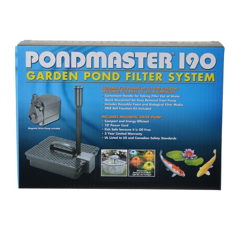 Pondmaster pondmaster garden pond filter system kit filters for Small pond filter system