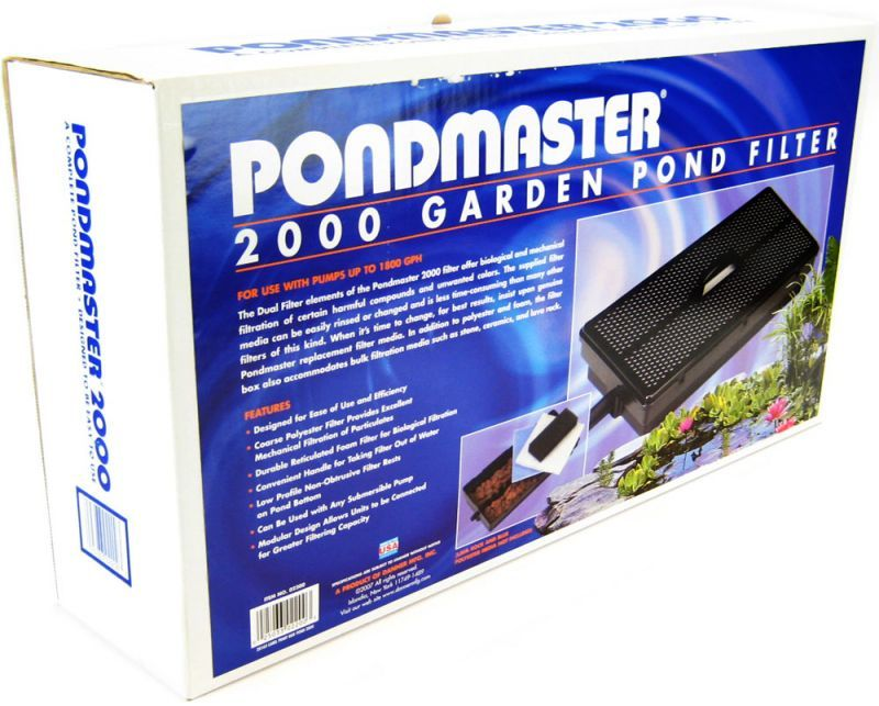Pondmaster pondmaster 2000 garden pond filter only filters for Garden fountain filters