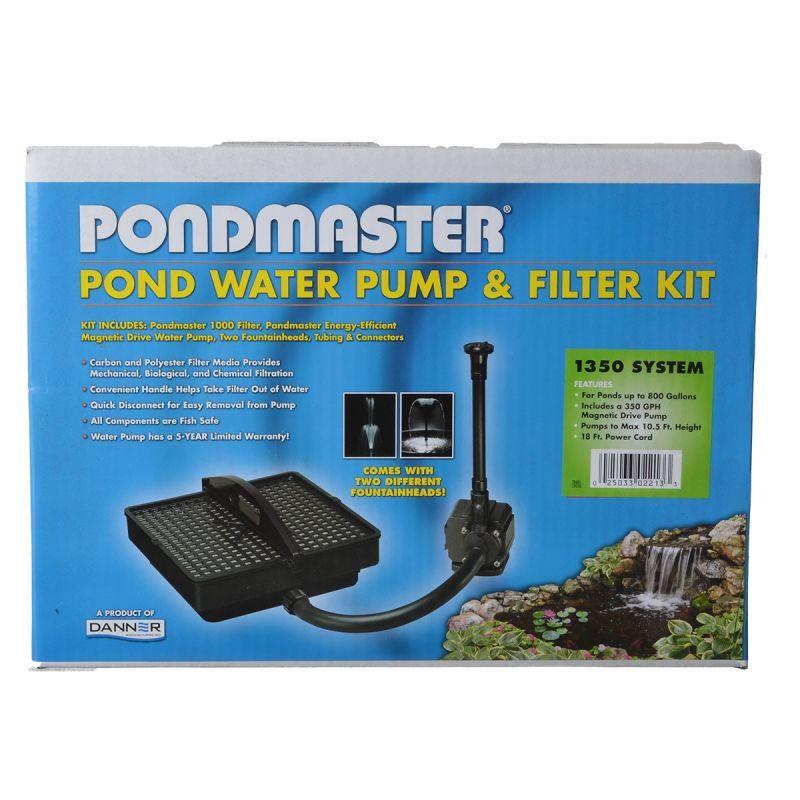 Pondmaster pondmaster garden pond filter system kit filters for Outdoor fish pond filter system