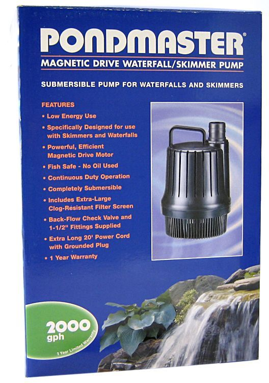 Pondmaster pondmaster magnetic drive waterfall pump water for Large pond water pump