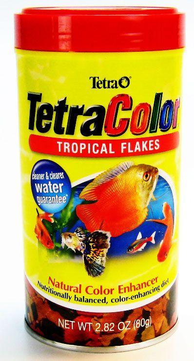 Tetra tetra tetracolor tropical flakes fish food foods for Fish food flakes