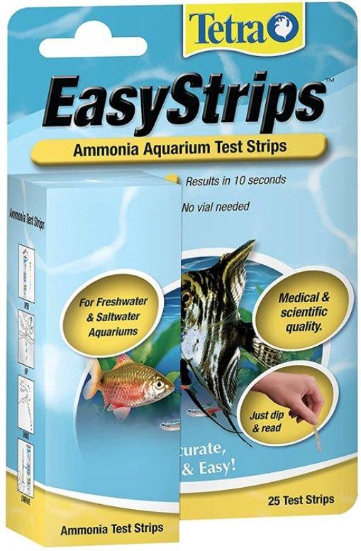 Tetra tetra easystrips ammonia aquarium test strips fw for Ammonia in fish tank