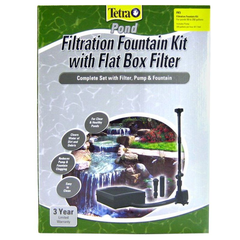 Tetra pond tetra pond filtration fountain kit with for Pond pump box