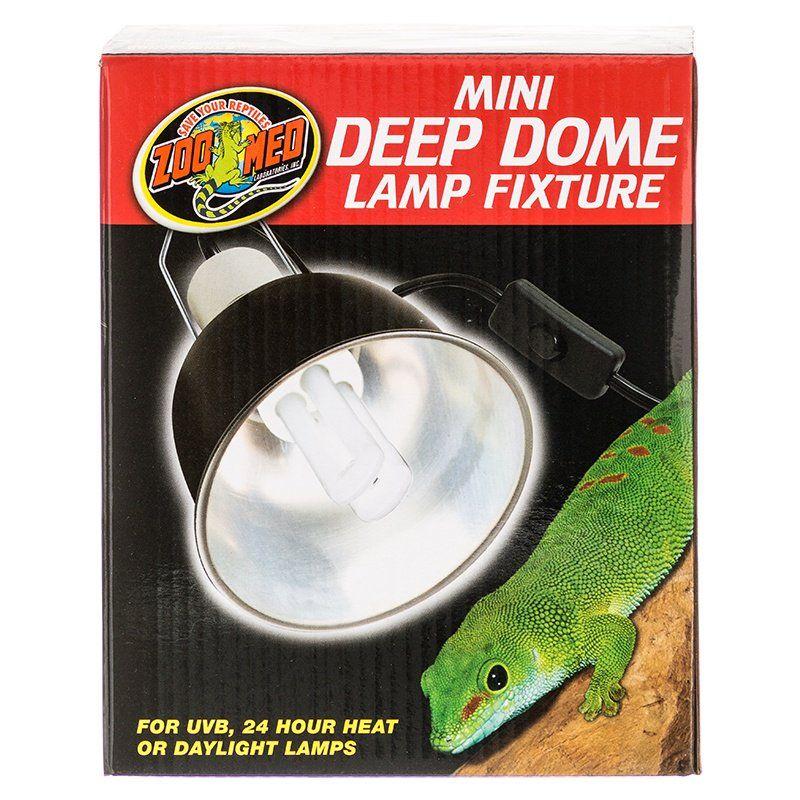 Zoo Med Zoo Med Mini Deep Dome Lamp Fixture Black