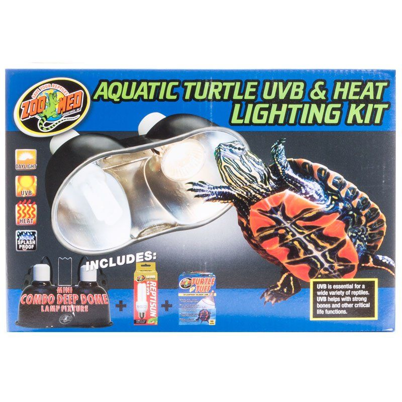 Zoo Med Zoo Med Aquatic Turtle Uvb Amp Heat Lighting Kit Lighting Incandescent