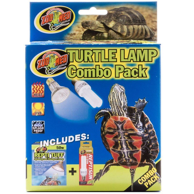 Home Reptile Lighting Incandescent Zoo Med Turtle Lamp Combo Pack