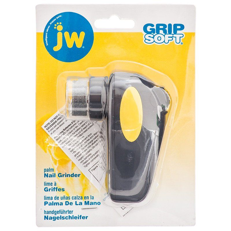 JW Pet JW GripSoft Palm Nail Grinder for Dogs Nail Trimmers & Files