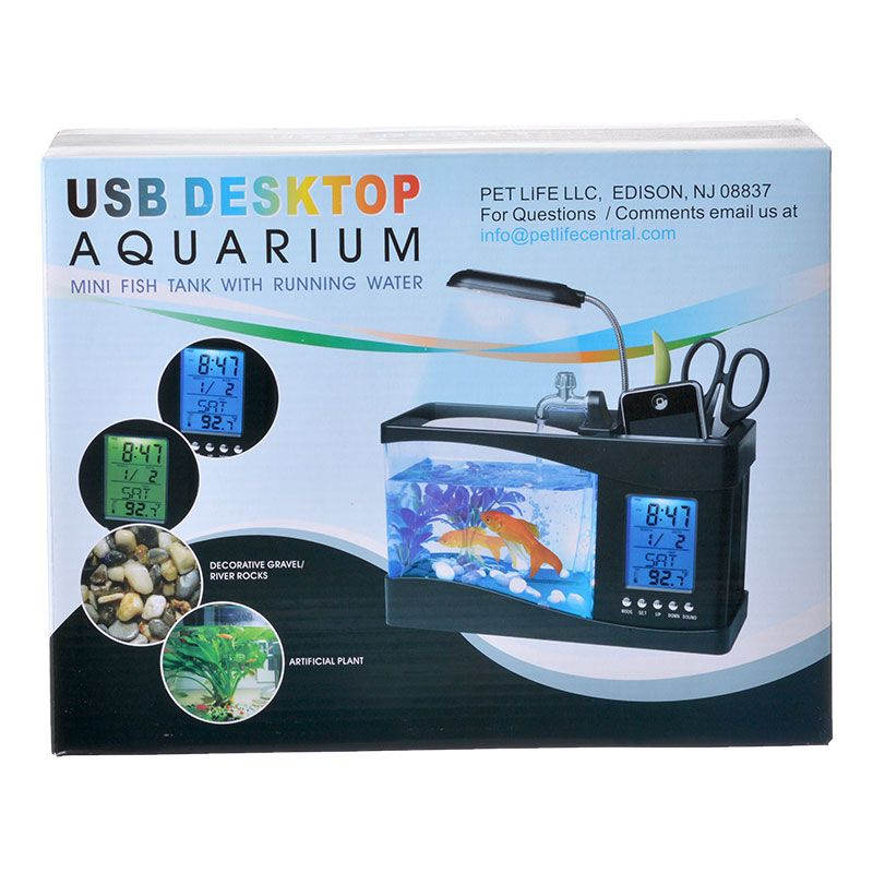 Fish Glass & Acrylic Aquariums Pet Life All-In-One Desktop Aquarium ...