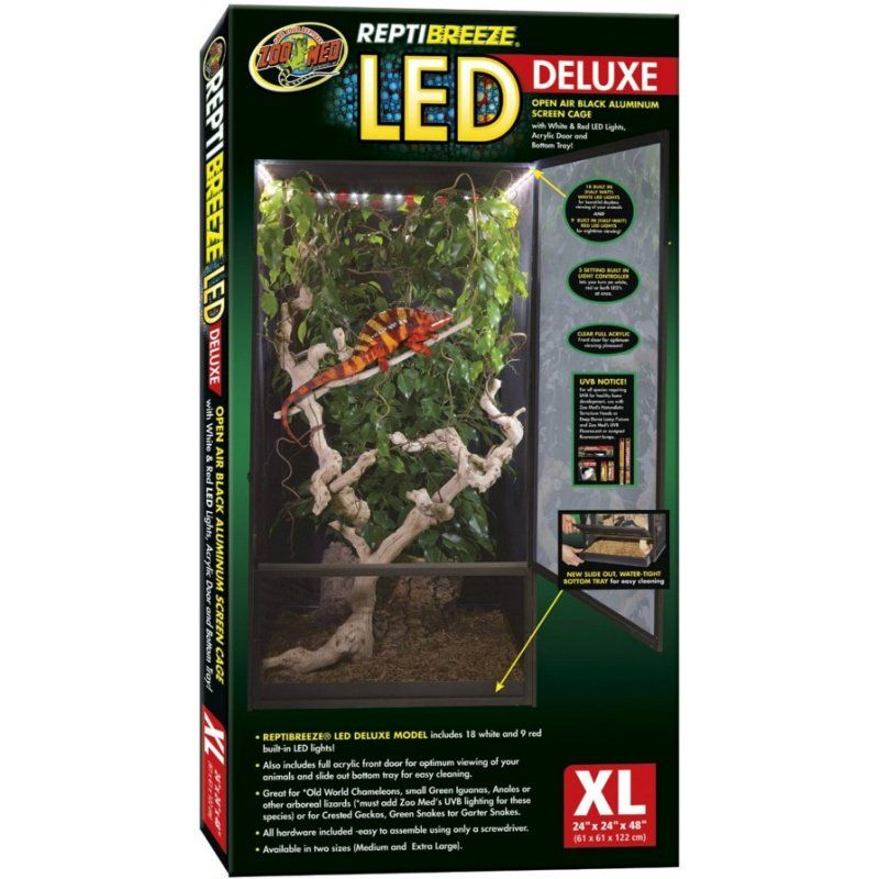 Zoo Med Zoo Med Reptibreeze Led Deluxe Open Air Aluminum