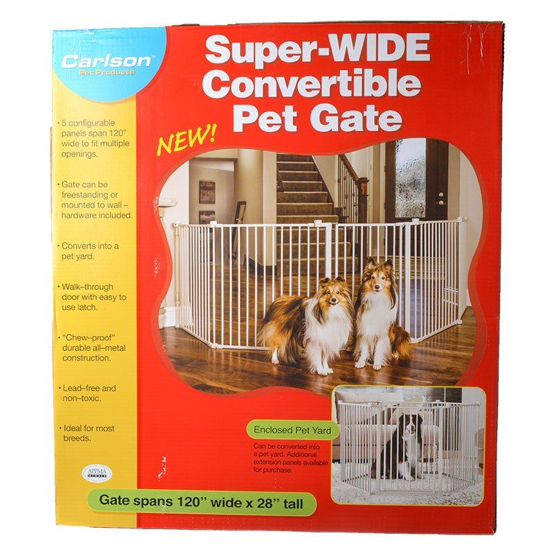 Carlson Pet Gates Carlson Super Wide Convertible Pet Gate