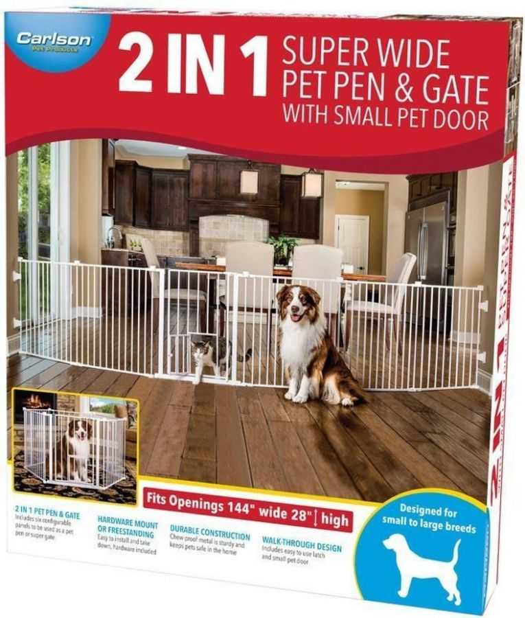 Carlson Pet Gates Carlson 2 In 1 Pet Pen Amp Super Gate