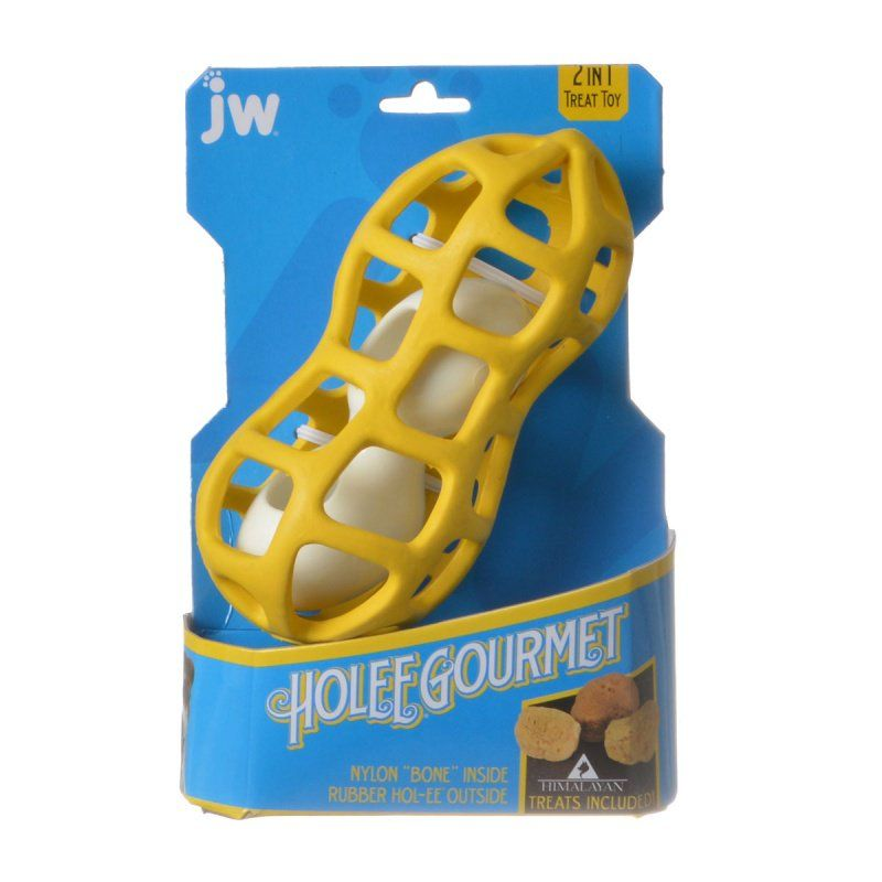 JW Pet JW Pet Holee Gourmet Peanut Dog Toy Toys Rubber