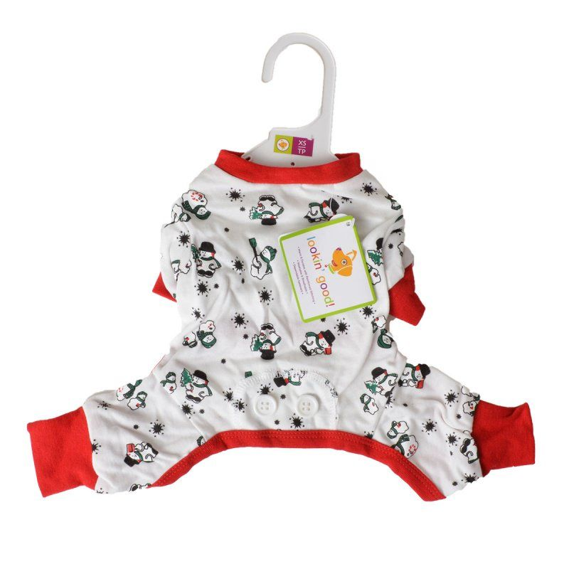 Fashion Pet Lookin Good Snowmen Dog Pajamas Apparel
