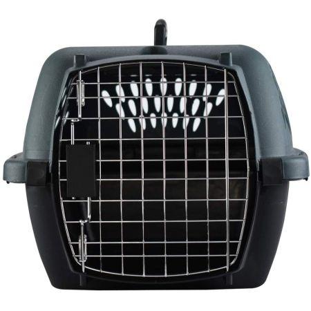 Aspen Pet Porter Heavy-Duty Pet Carrier Storm Gray and Black