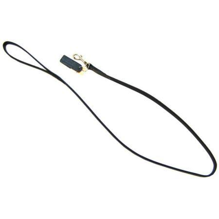 Circle T Leather Lead  - 4' Long - Black