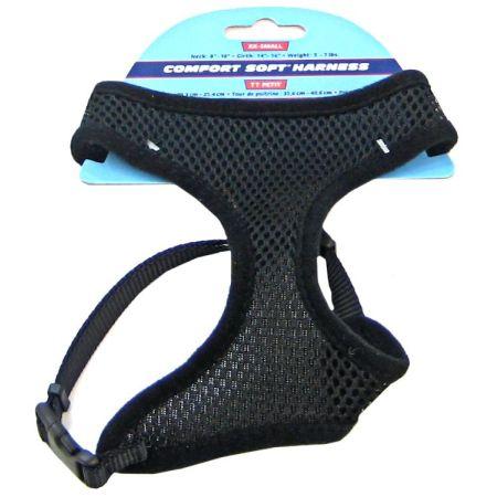Coastal Pet Coastal Pet Comfort Soft Adjustable Harness - Black