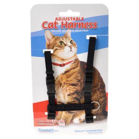 Tuff Collar Nylon Adjustable Cat Harness - Black alternate view 1