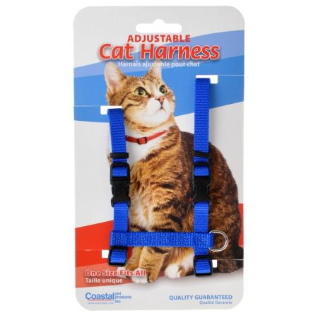 Tuff Collar Nylon Adjustable Cat Harness - Blue alternate view 1