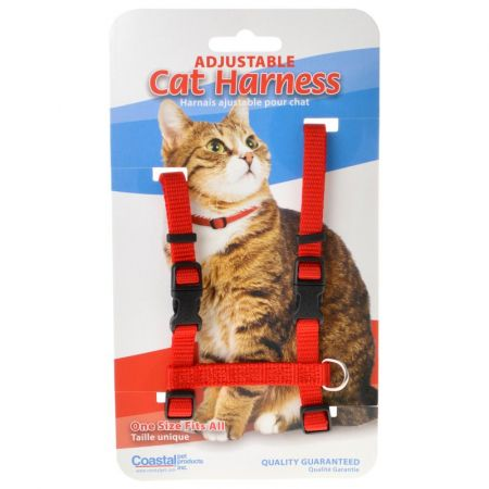 Tuff Collar Tuff Collar Nylon Adjustable Cat Harness - Red