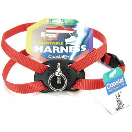 Coastal Pet Coastal Pet Size Right Nylon Adjustable Harness - Red