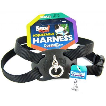 Coastal Pet Coastal Pet Size Right Nylon Adjustable Harness - Black