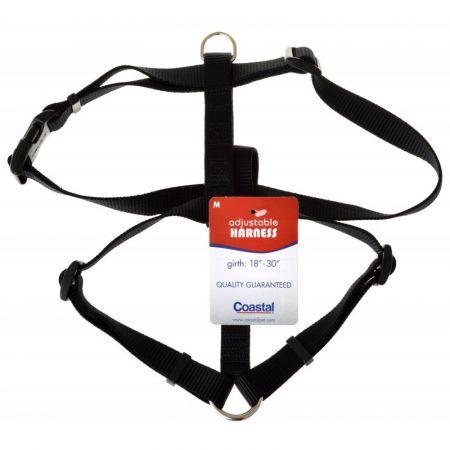 Coastal Pet Coastal Pet Nylon Adjustable Harness - Black